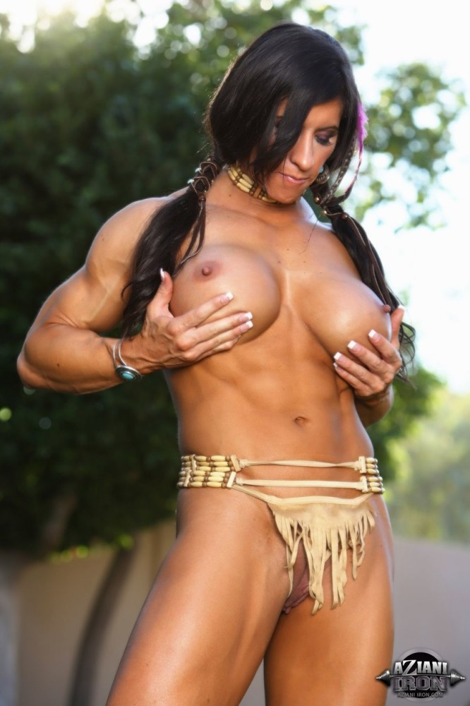 Beefy chick Angela Salvagno uncovers..