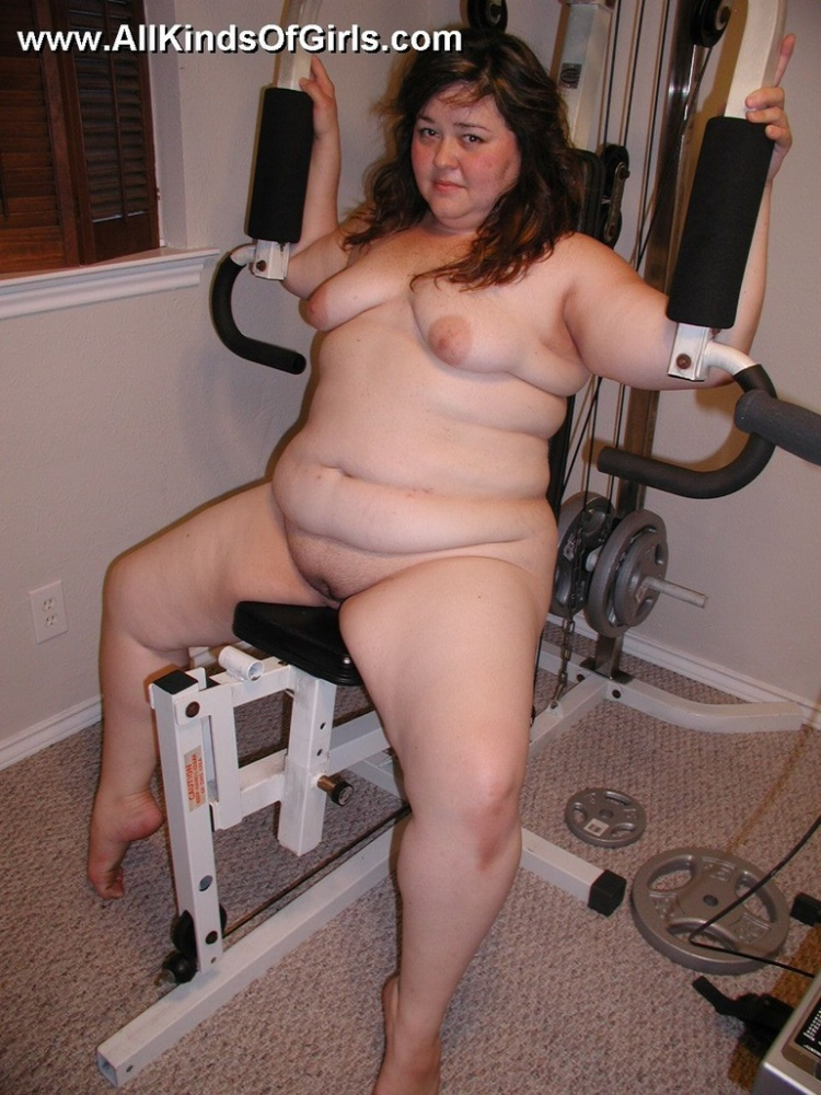 Obese obese butt housewife taking a..