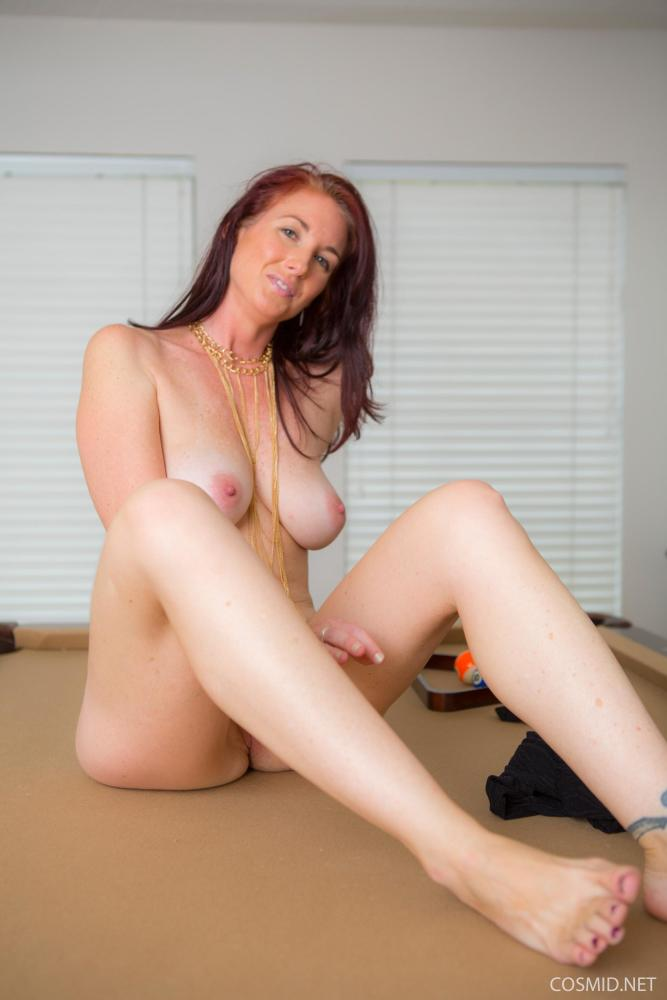 Red-haired stunner Andy Adams takes..