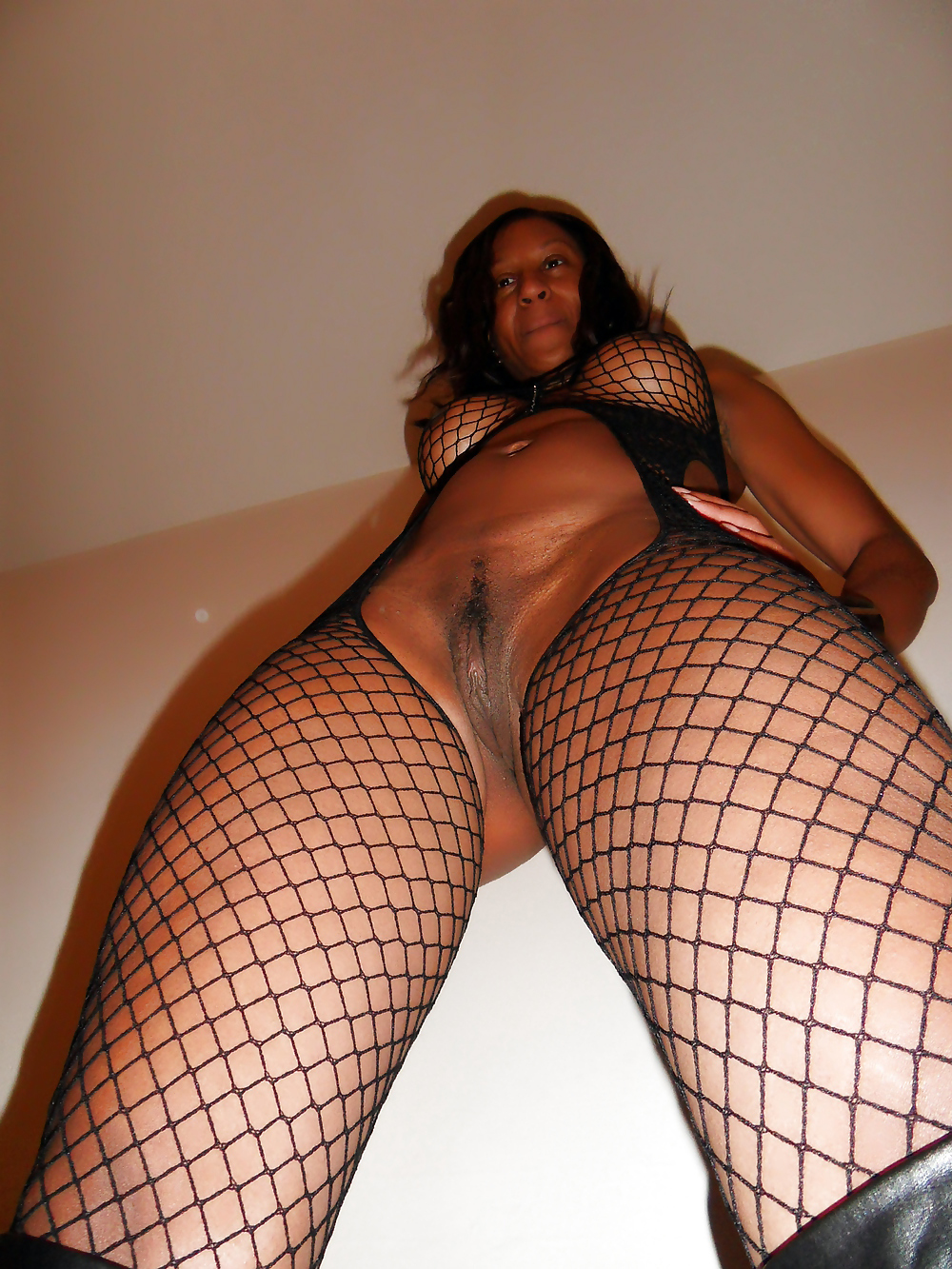 We found these bare ebony cougar in..