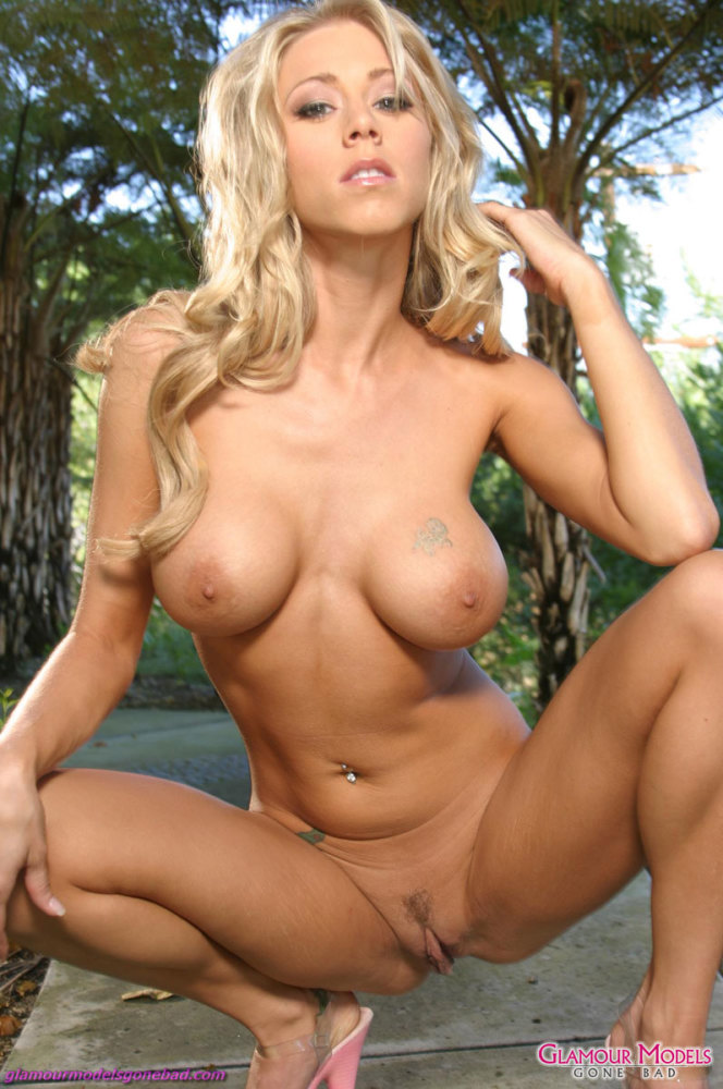 Katie Morgan Unclothes Nude Outdoors..